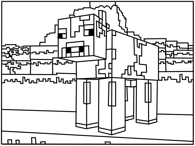 Minecraft Craft Coloring Pages. Minecraft coloring pages  minecraft cow Coloring Pages Cow Craft and stuff