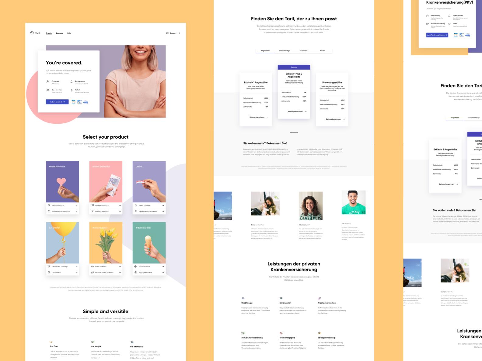 Insurance Made Simple Web Design Design Make It Simple