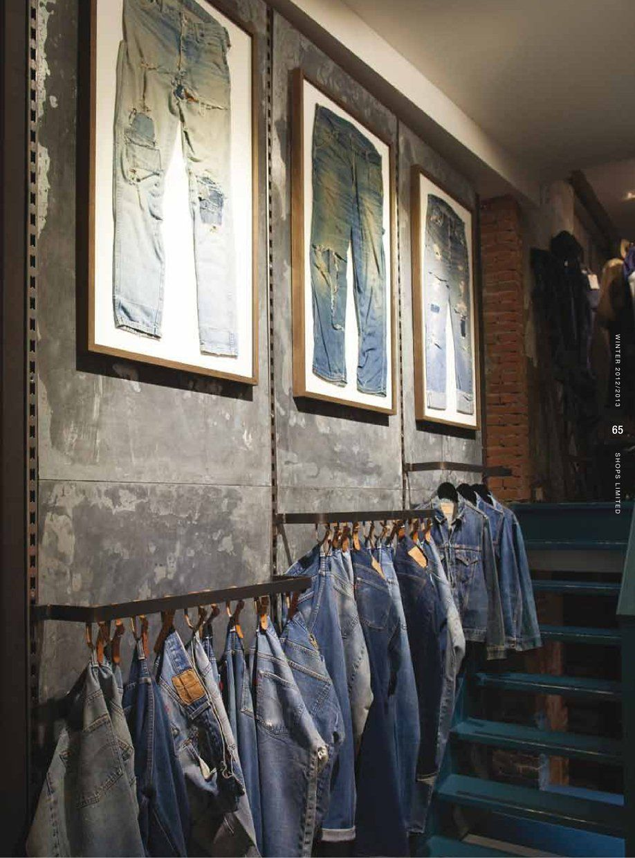 Tenue de nimes amsterdam denim display clothing store design jeans store denim