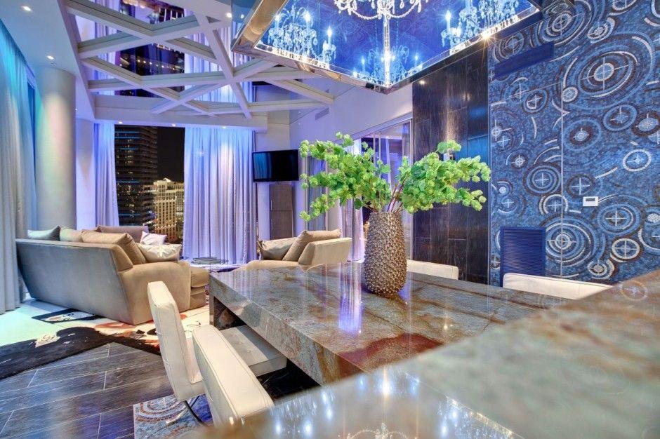 Las Vegas Penthouse By Mark Tracy Modern InteriorsHome InteriorsDesign