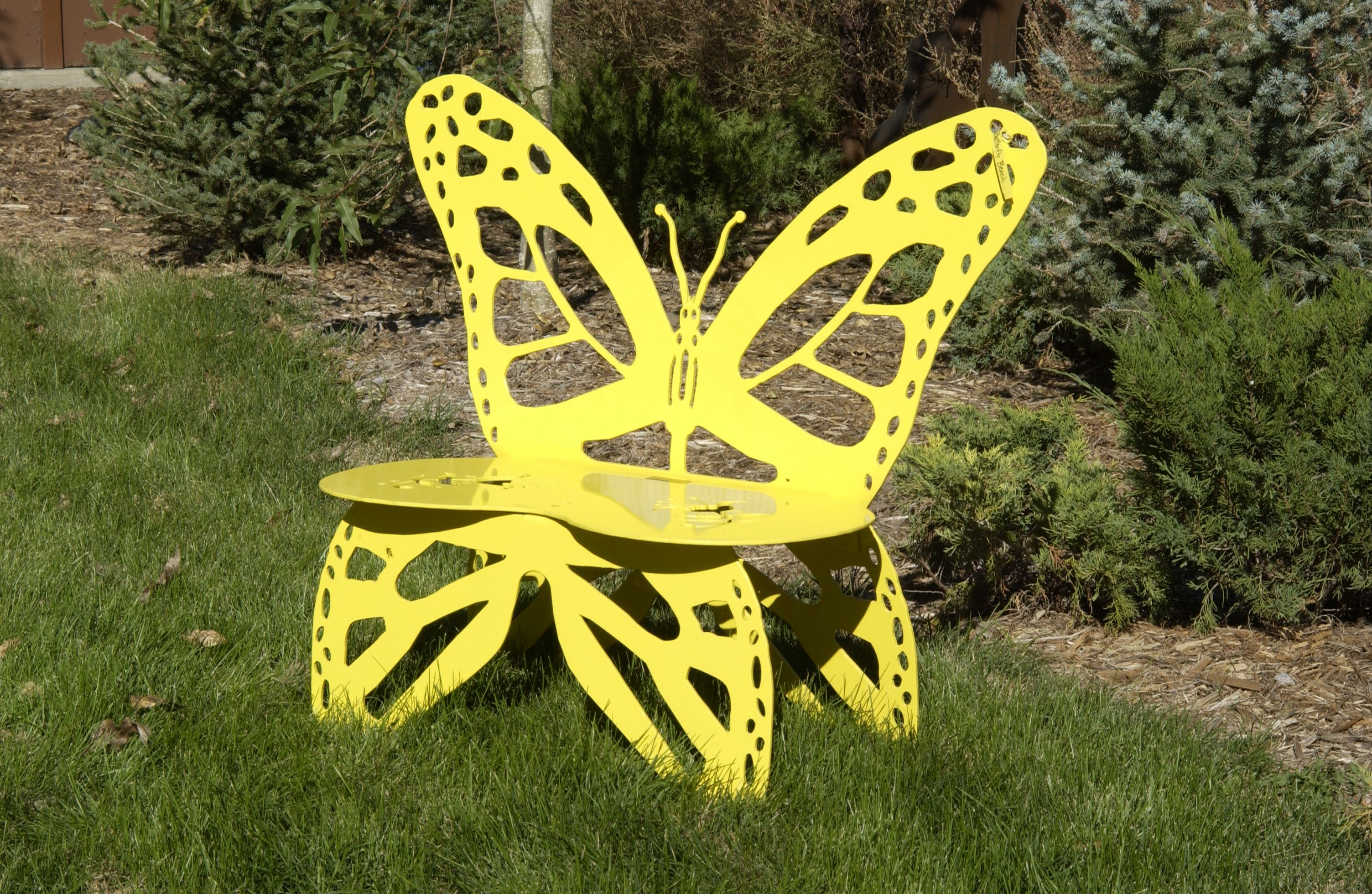Metal Butterfly Garden Bench. You can make your own butterfly bench ...