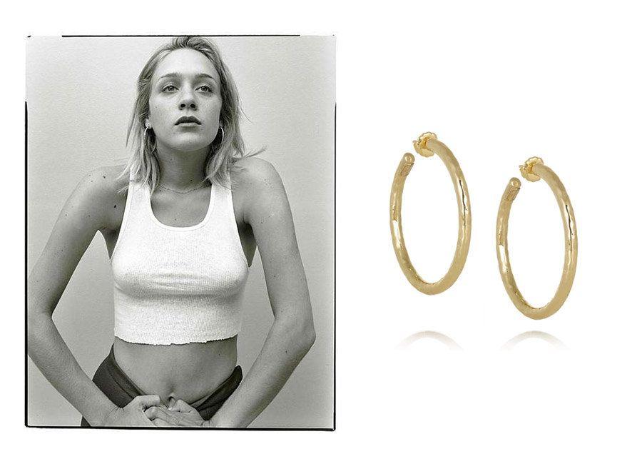 Copycat: Shop Chloe Sevigny's Best Looks | Fashion Magazine | News. Fashion. Beauty. Music. | oystermag.com hoop earrings
