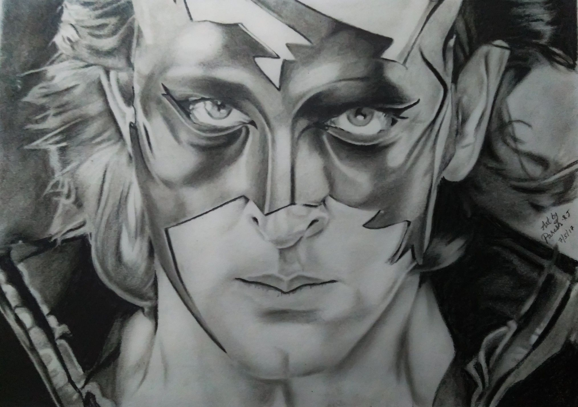 Krrish 3 Pencil Sketch