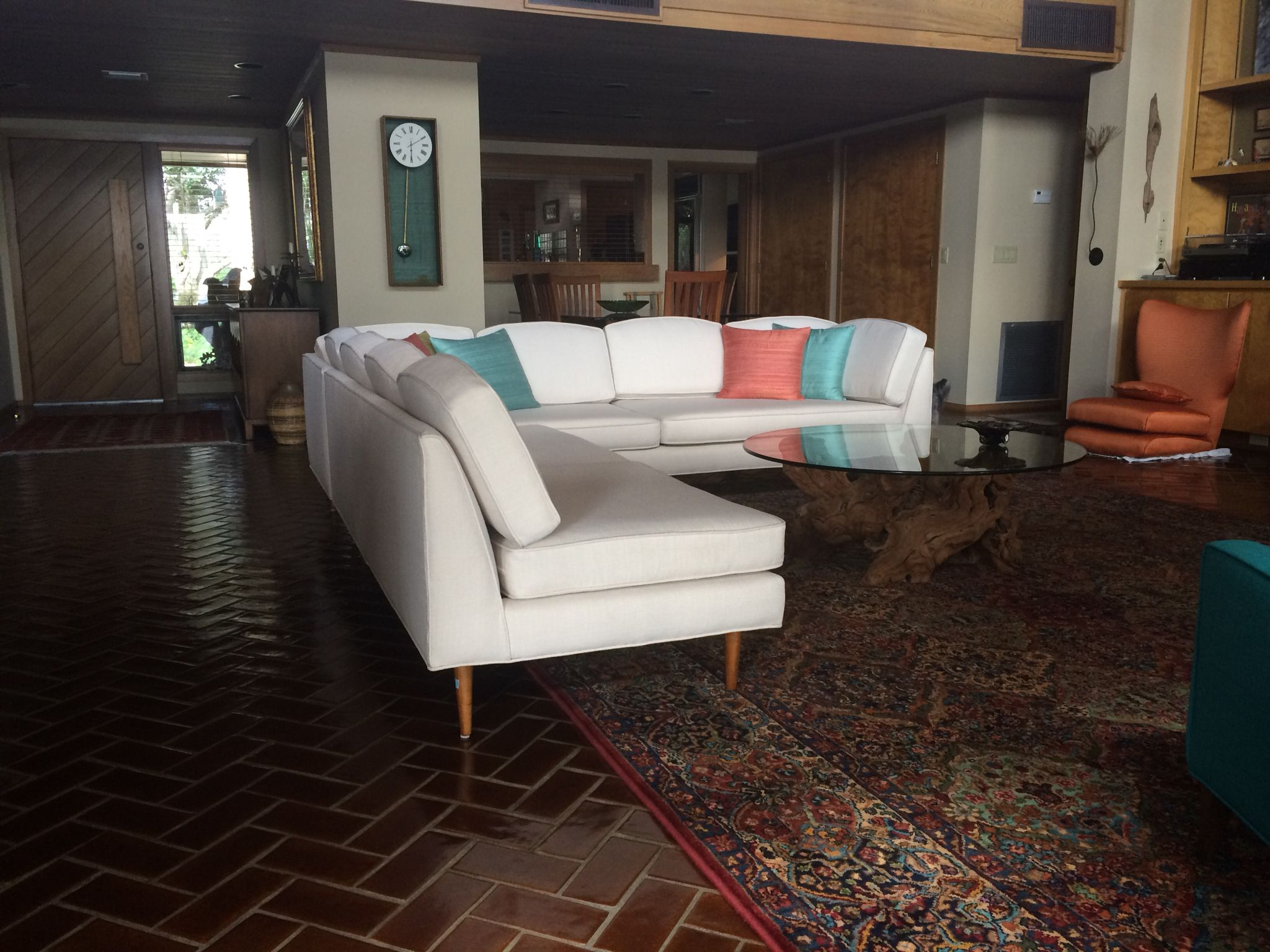 Mid Century Sectional, This Custom Designed 1962 Beauty I Call The Marzee!  Made Lancaster Furniture Portland Maine