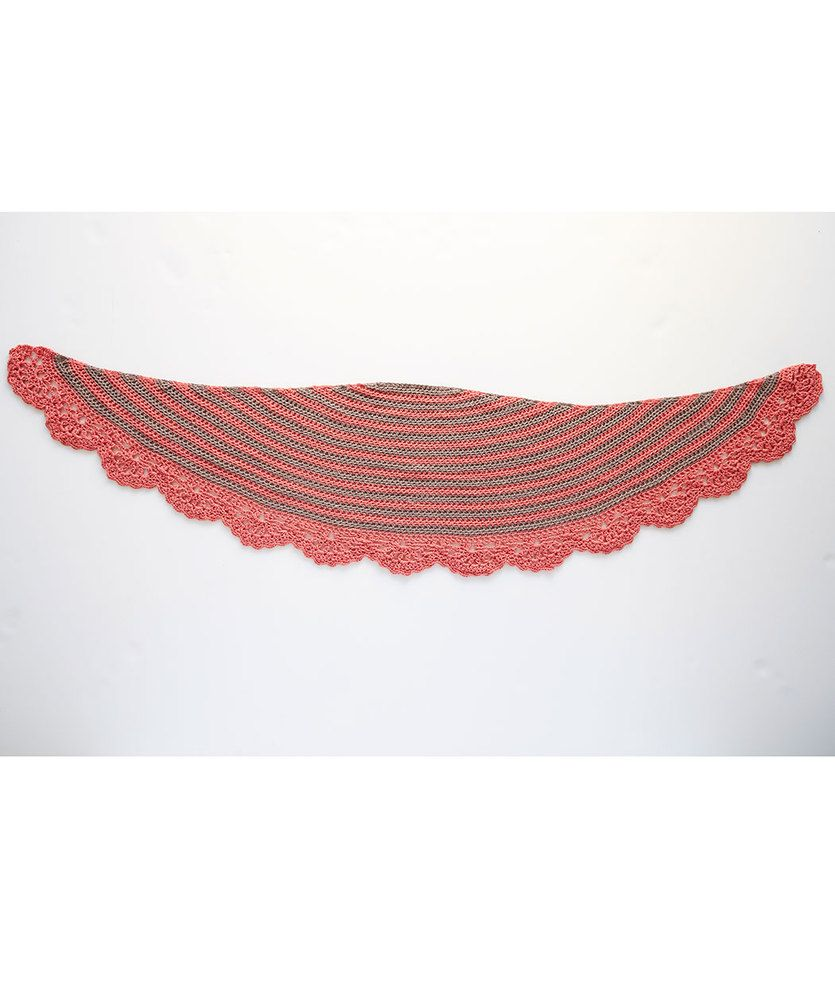 Chic and Strong Crescent Shawl   Red Heart   Bufanda   Pinterest ...