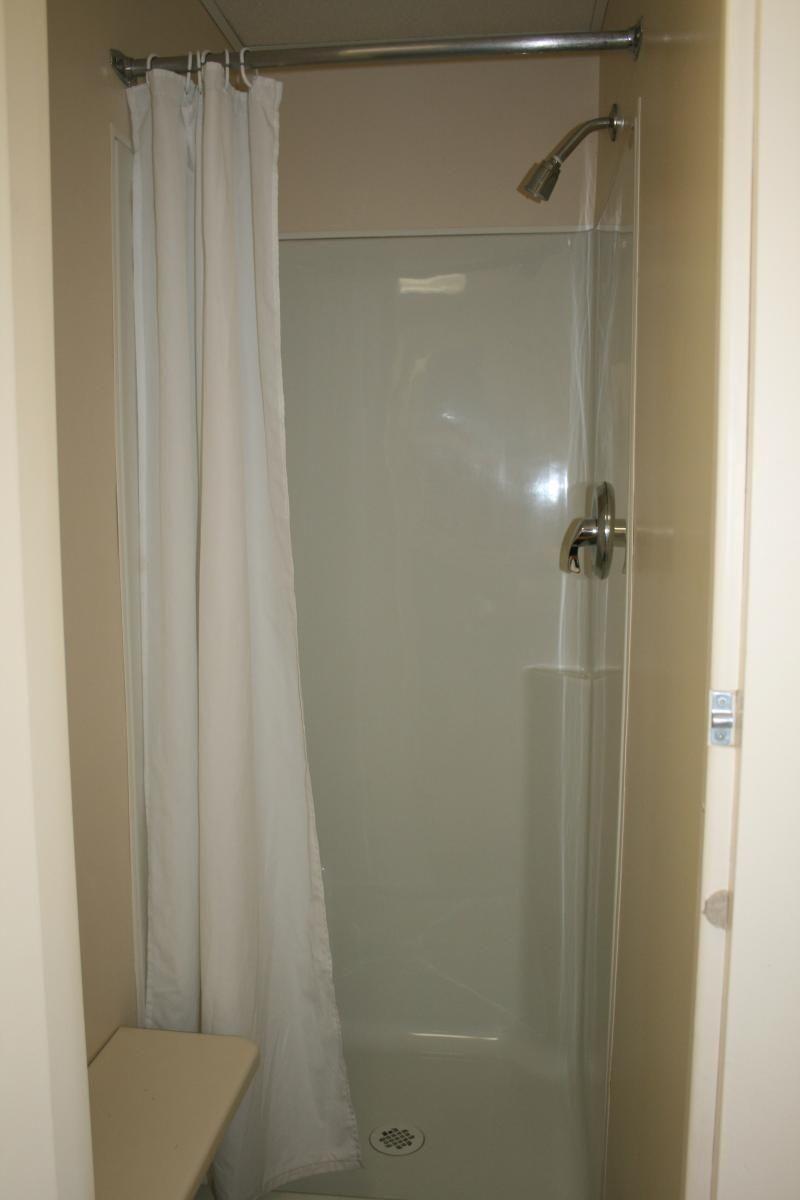 Garden tub decor  Pleated Shower Door Camper  sourceabl  Pinterest