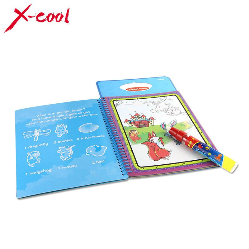 Xc1392 New Arrives Magic Kids Water Drawing Book With 1 Magic Pen Intimate Coloring Book Water Painting Board 6 Water Drawing Magic For Kids Coloring Books