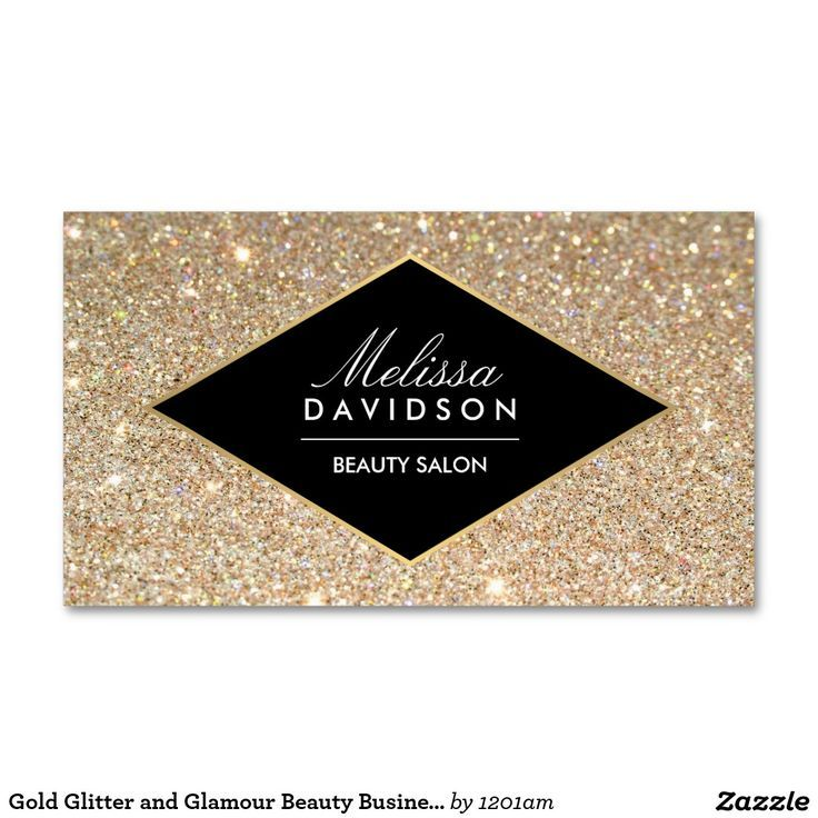 Gold Glitter and Glamour Beauty Business Card   Beauty business ...