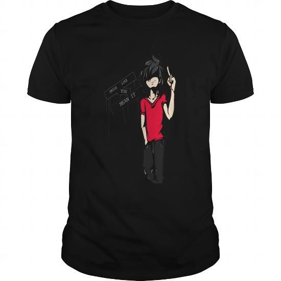 I Love Smile like you mean it anime shirt and hoodie Shirts & Tees