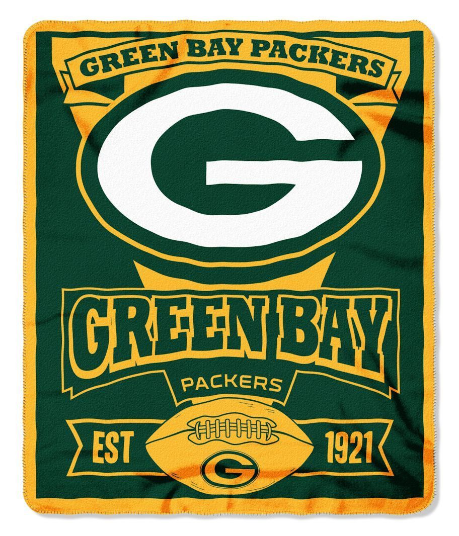 Green Bay Packers 50x60 Fleece Blanket Marque Design Green Bay Packers Blanket Green Bay Packers Team Green Bay Packers