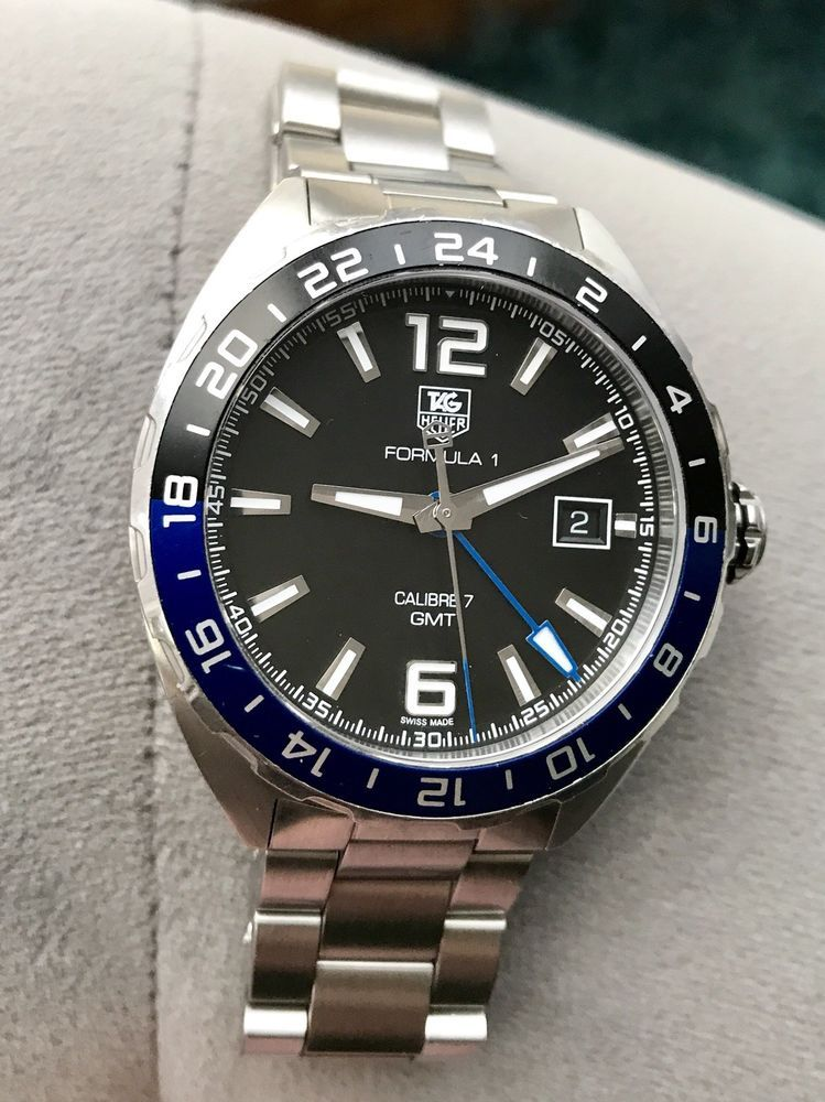 "f57542c90c2 Tag Heuer Formula 1 GMT ""Batman"" w  recent proof of service ( 350 value)"