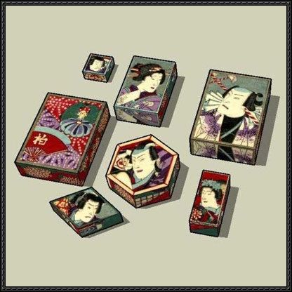 Japanese gift boxes free paper models download papercraft hand japanese gift boxes free paper models download negle Choice Image