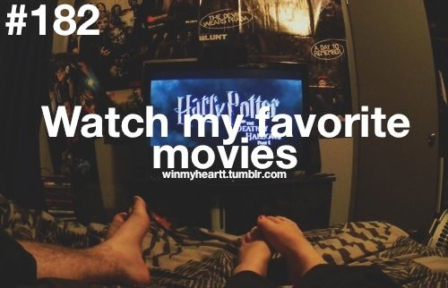 182. - the fact that harry potter is on in the background made me fall in love <3