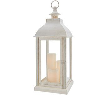 Candle Impressions Large Indoor Outdoor Lantern With 3