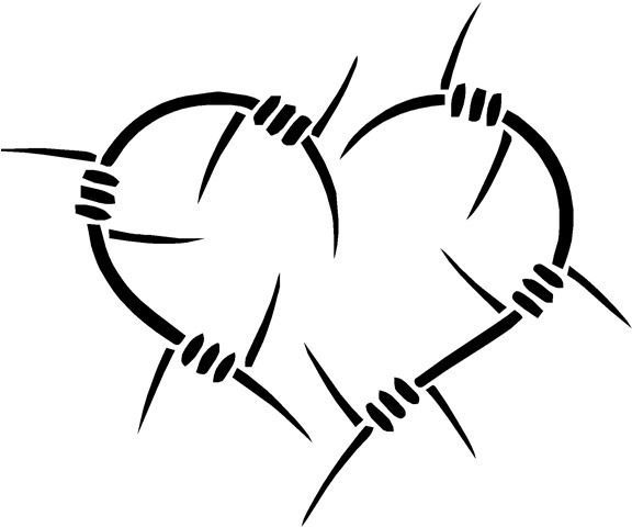 Barb Wire Heart Car Truck ATV Laptop Decal Sticker Vinyl Laptop - Barb wire custom vinyl decals for trucks