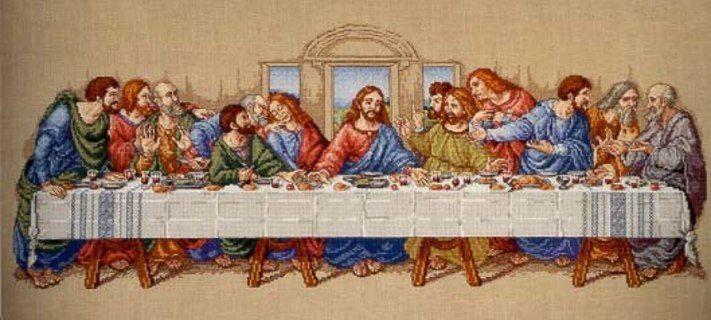 Religious Leonardo Davinci/'s Last Supper of Christ  Counted Cross Stitch Pattern