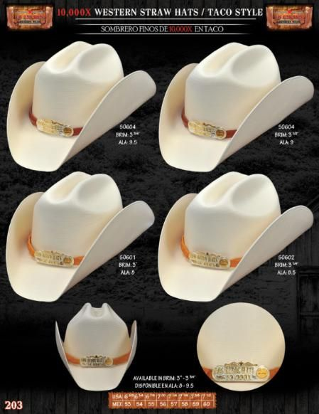 d2e2b88f1fc3dd 10,000x Taco style western #cowboy straw #hats finished with #silver/gold  metal details front.$185
