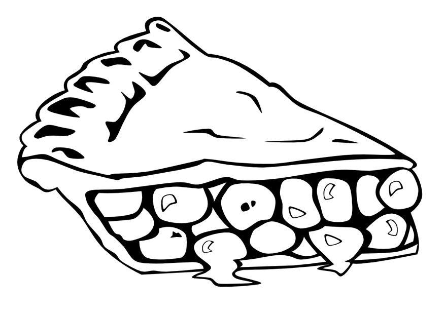 dibujo para colorear dibujos para colorear de alimentos trozo de ...