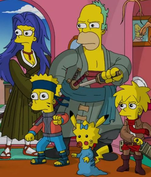 The Simpsons As Anime Characters Simpsons Art The Simpsons Cartoon