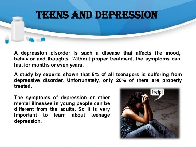 teenage depression thesis 3) teenage depression affects many teenagers and in order for people to help victims of this one must know what it is, what the symptoms are and who to consult when a teenager has depression.