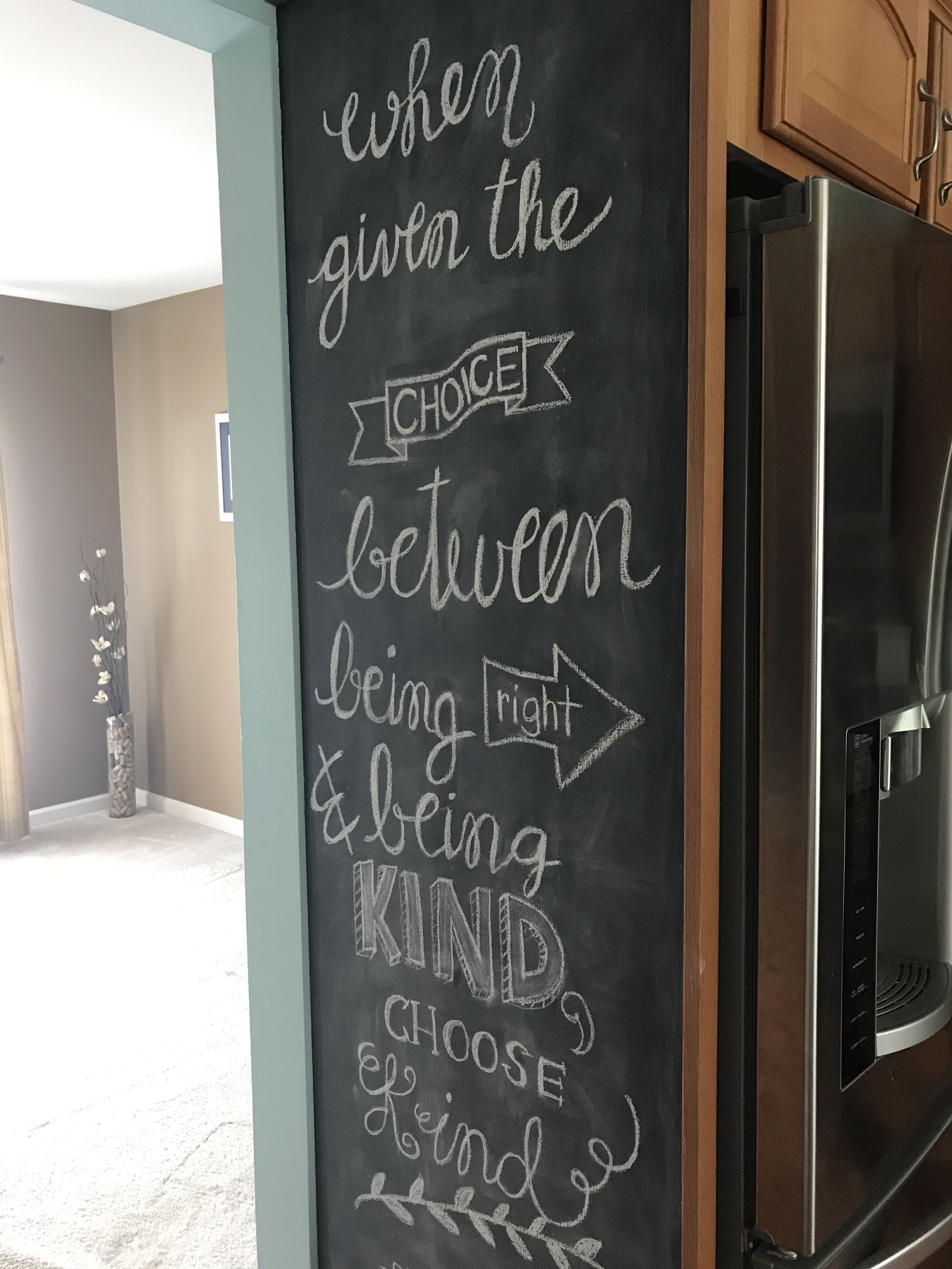 Chalkboard Writing Quote When Given The Choice Between Being