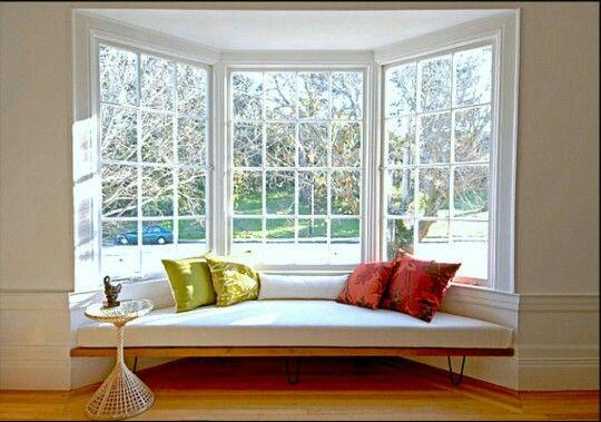 Floating Bench Window Seat Design Bay Window Living Room