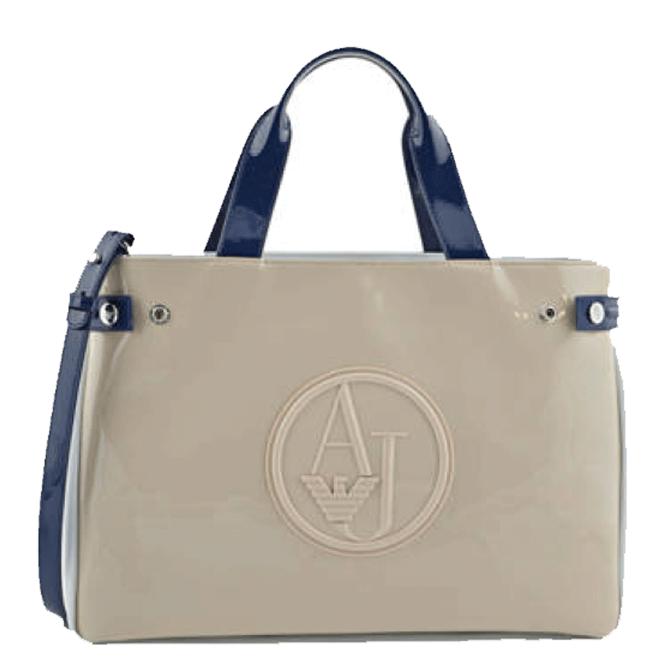 C522f Shopping Armani Jeans Blu Borsa Tracolla Vernice Beige Donna 7EwOxq