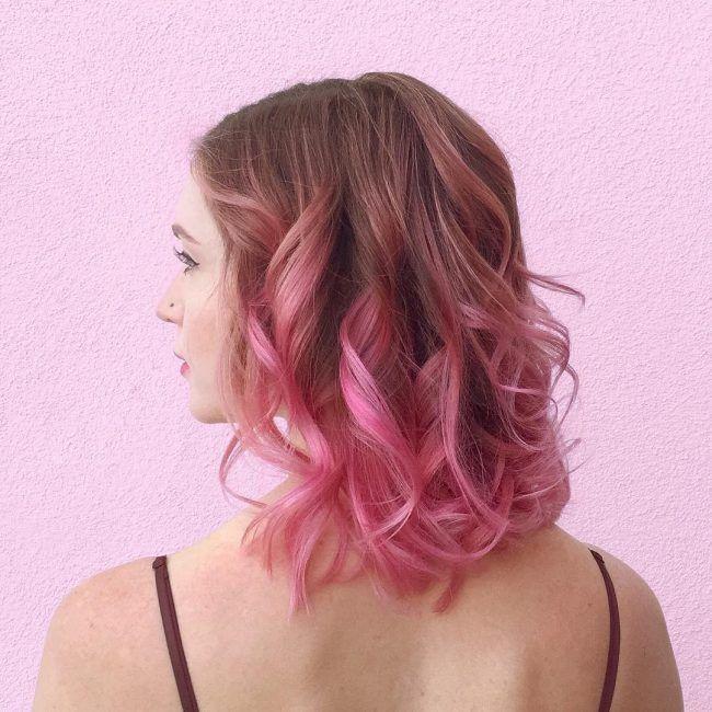 dark brown to pink ombre hair hair ideas pinterest