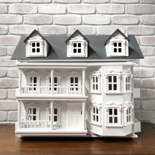 Large Wooden Victorian Dollhouse With Furniture U0026 Dolls. Dollshouse, Doll  House