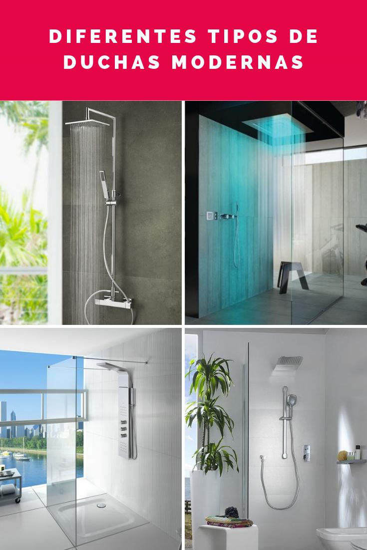 Duchas modernas diferentes tipos de duchas para ba os for Tipos de mamparas para platos de ducha