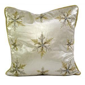 "Farrisilk 18"" x 18"" Silver Shimmering Pillow"