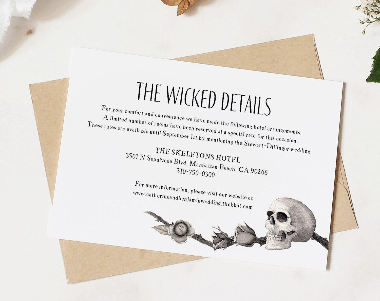 Enclosure cards for wedding details card