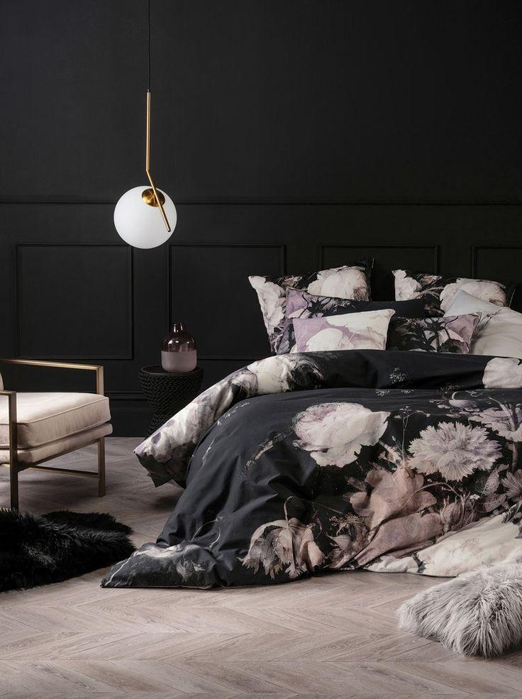 Linen House S Warming Winter Collection Adore Home Magazine Bedroom Vintage Black Duvet Bedroom Design