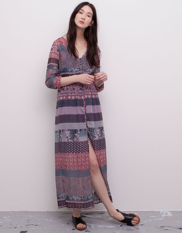 Bohemian Hindu Dona Pull Bear Espanya Boho Dresses Long Maxi Dress Dresses