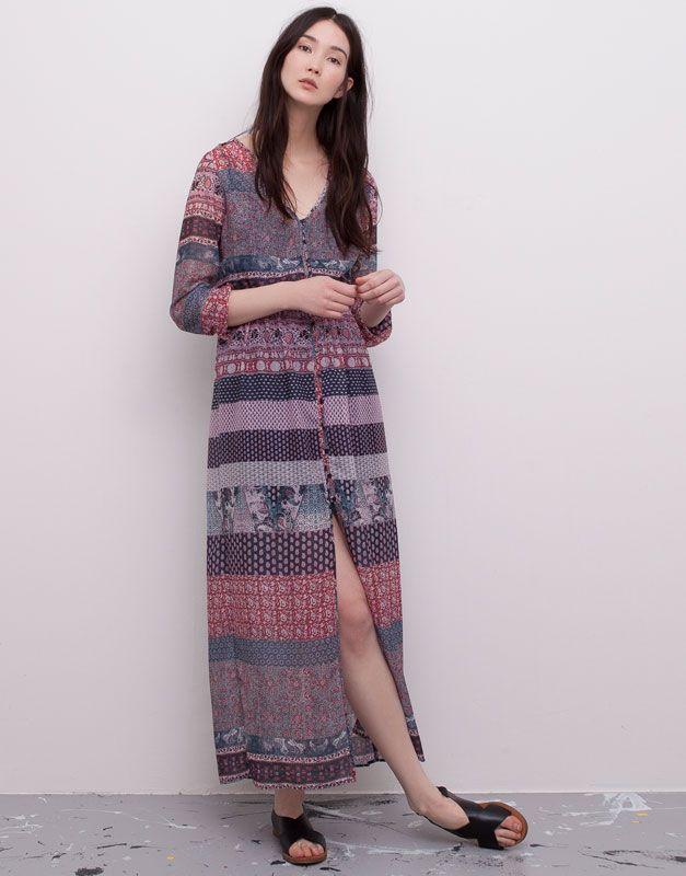 Bohemian Hindu Dona Pull Bear Espanya Boho Dresses Long Maxi Dress Dresses