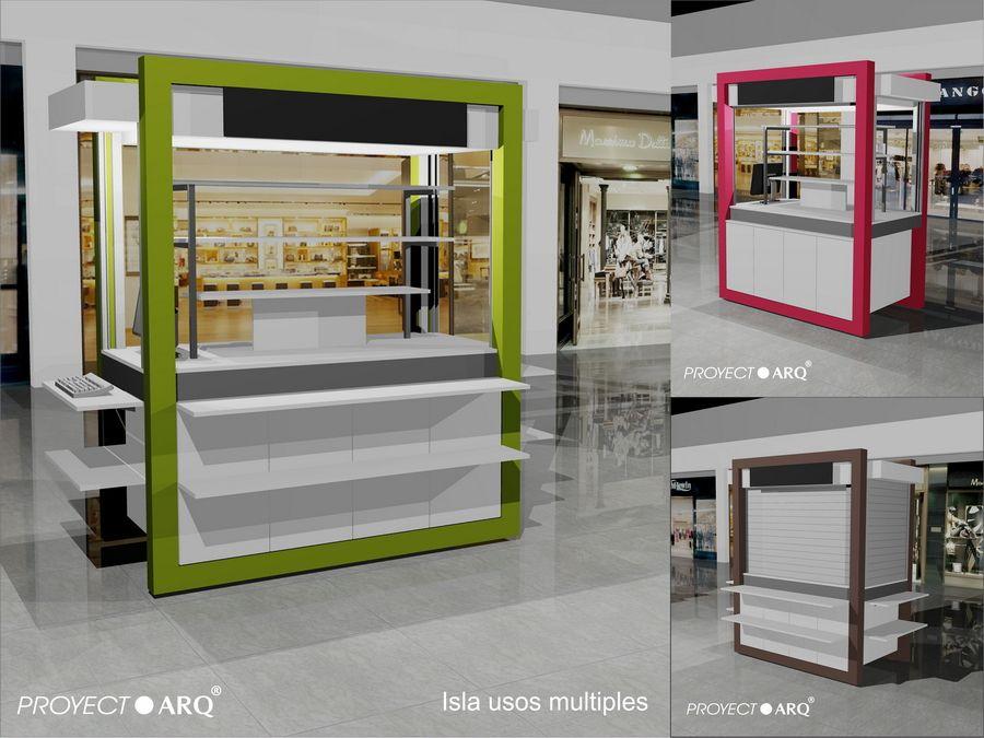Kioscos e islas para centros comerciales plazas house for Disenos de kioscos de madera