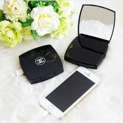 Chanel Portable Compact Mirror Charger Portable Phone Charger Portable Charger Powerbank
