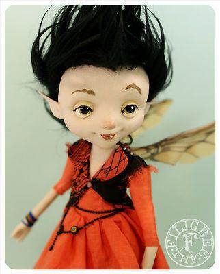 Punk Fairy Art Doll - ooak handmade Art Fairy Doll by the Filigree