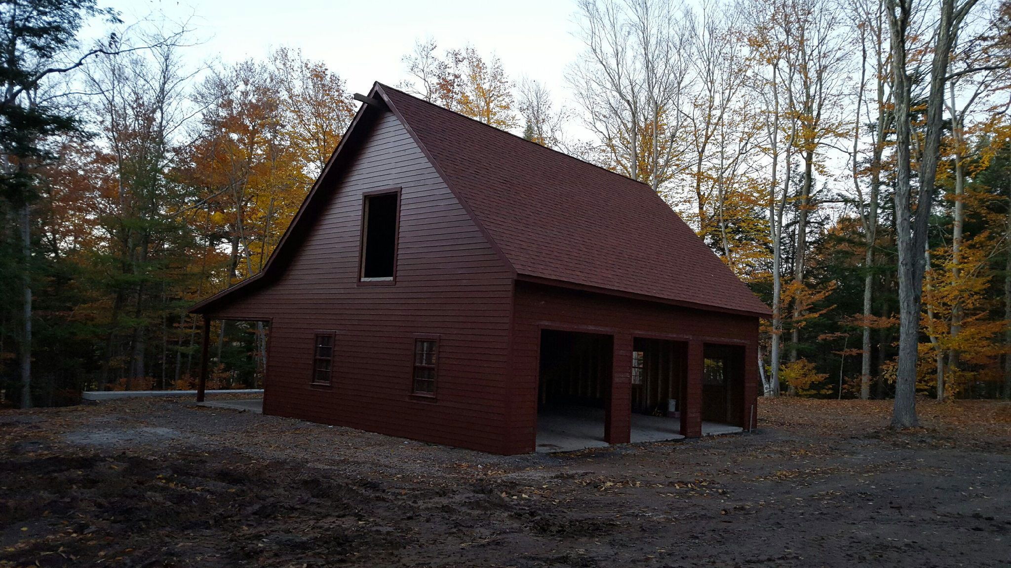 standard siding two amish quick log car build collection the garage from detached with garages
