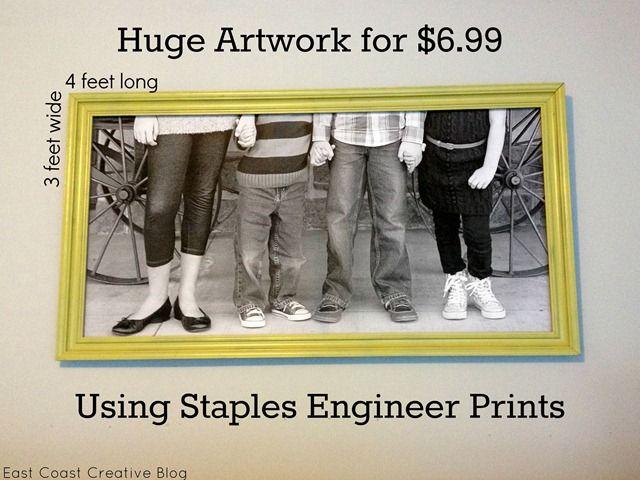 Staples Engineer Print Artwork Garage Mudroom Makeover Staples Engineer Prints Engineer Prints Mudroom Makeover