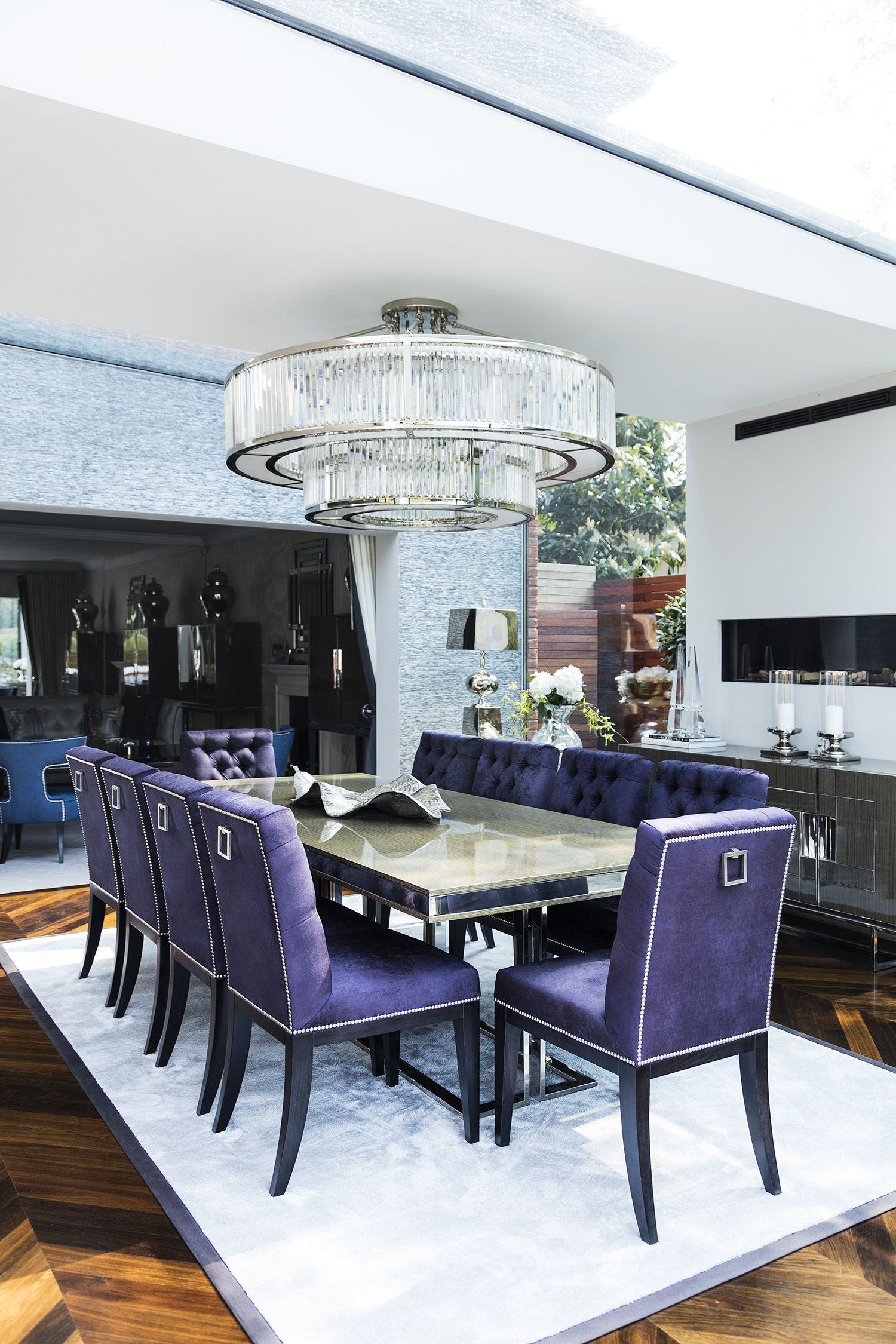 Formal Dining Room With Timeless Elegance Lucas Velvet