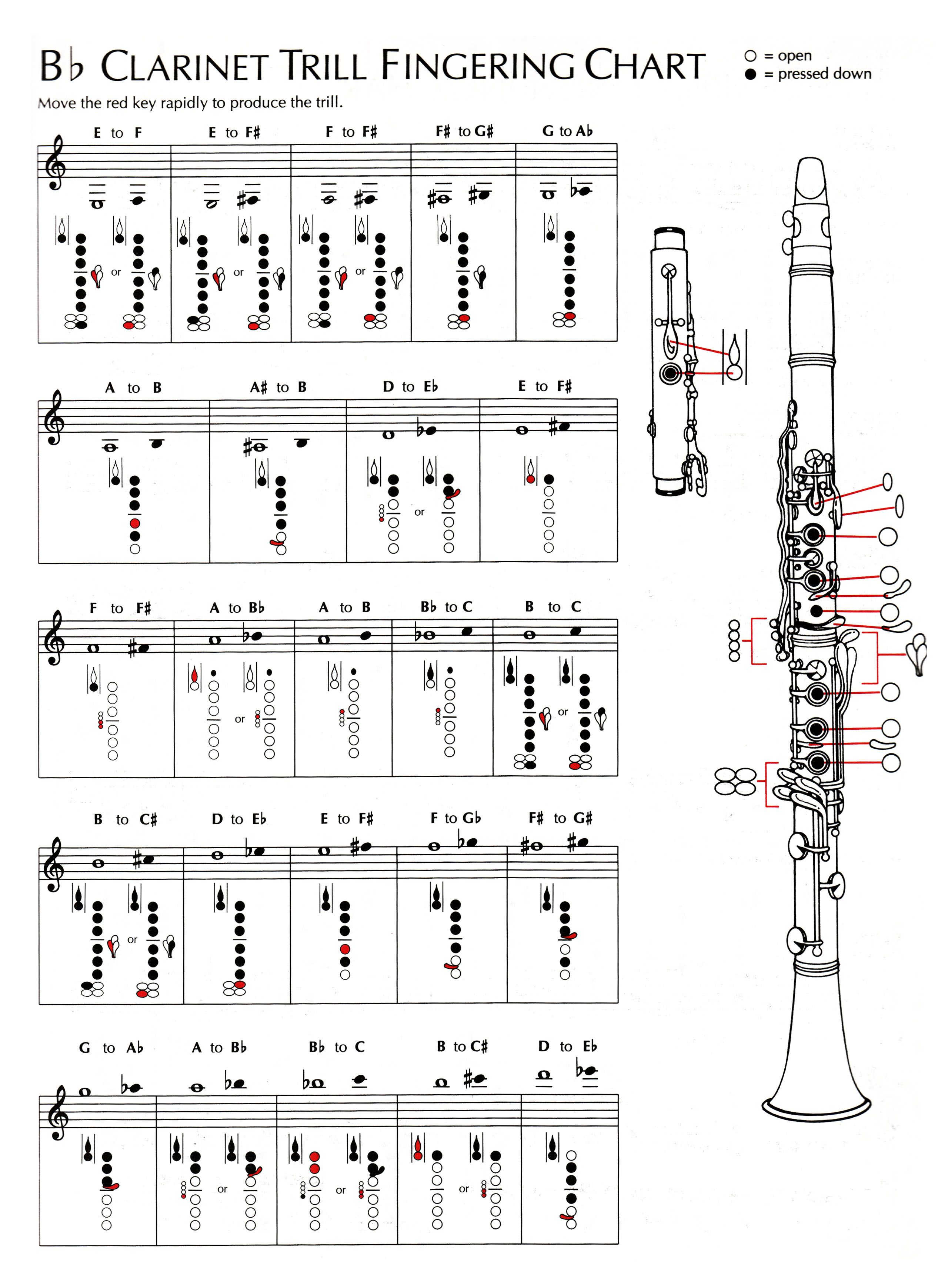 chart clarinet music sheet download picture [ 2533 x 3477 Pixel ]