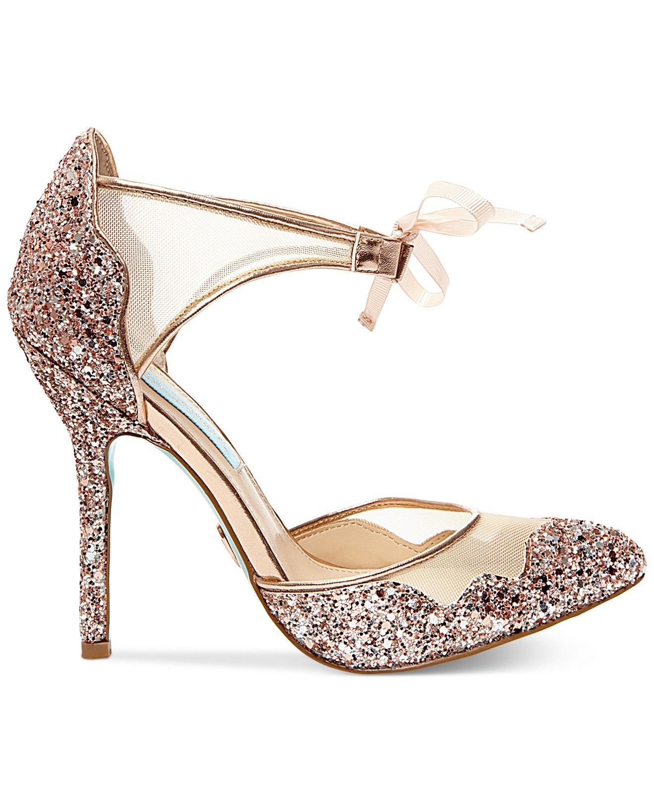 Betsey Johnson Wedding Shoes Wedding Shoes Macys Blue By Betsey Johnson Stela Evening Sandals In 2020 Betsey Johnson Wedding Shoes Bridal Shoes Wedding Shoes