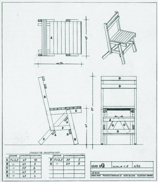 Enzo Mari, Furniture Manual For Autoprogettazione