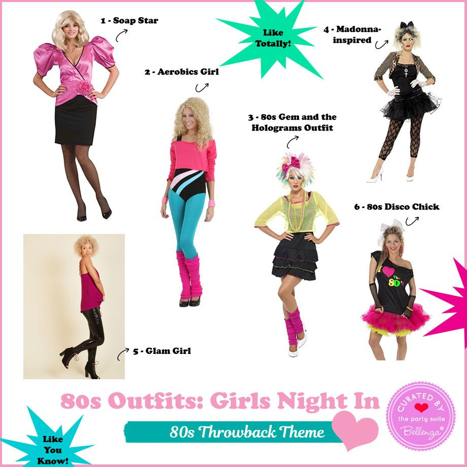 Fun 80s Party Outfits for a Girls Night In: Like Totally! | Pinterest