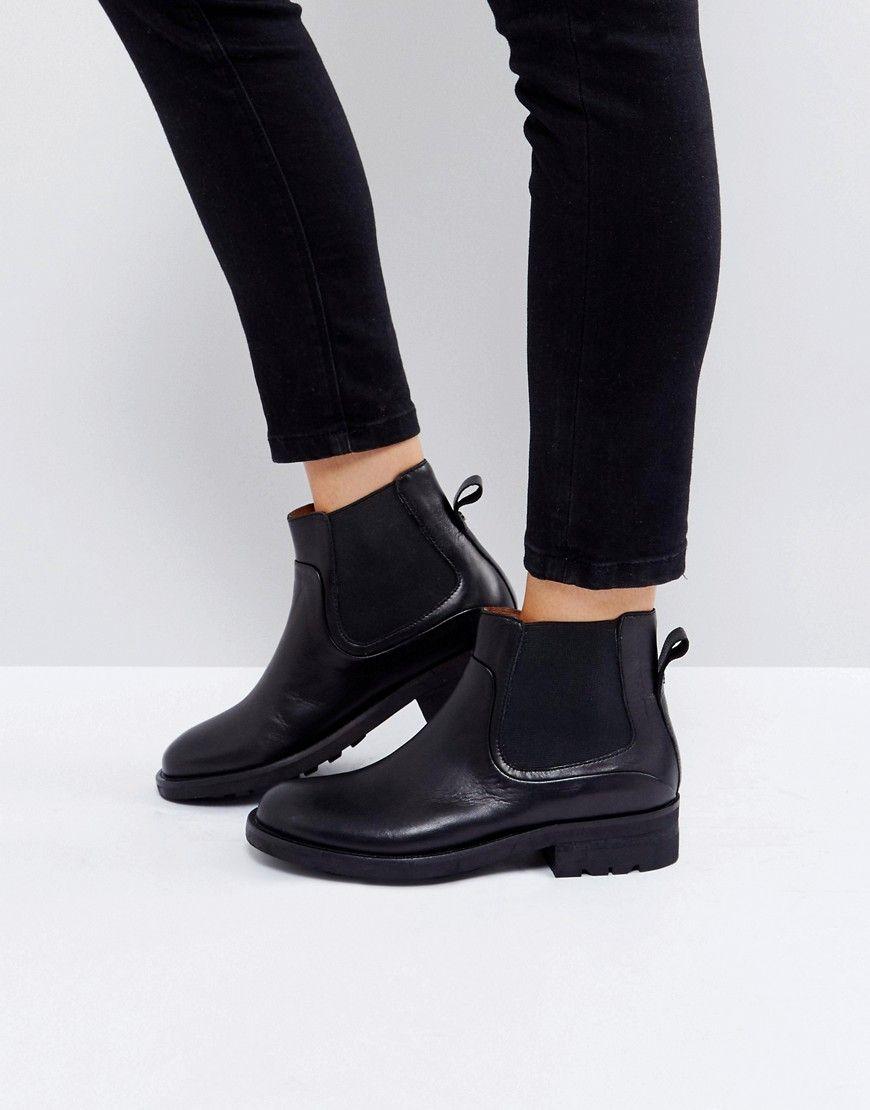 95df3904de0 Hudson London Carter Black Leather Chelsea Boots - Black | Shoes ...