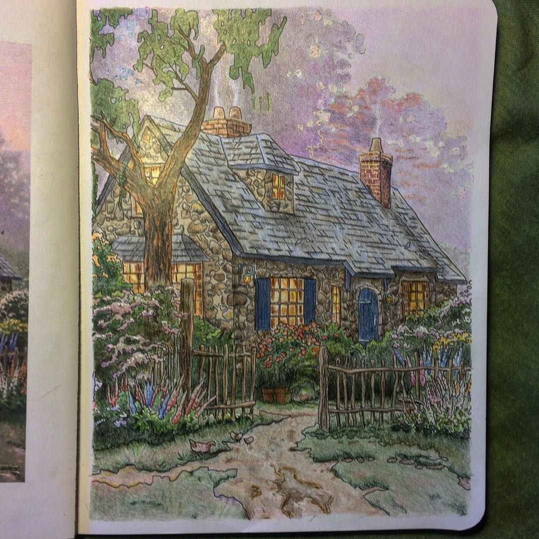Posh Thomas Kinkade Art E Colorir Adultcoloringbooks