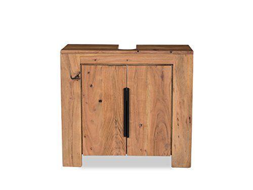 Woodkings Waschbeckenunterschrank Auckland Echtholz Akazie