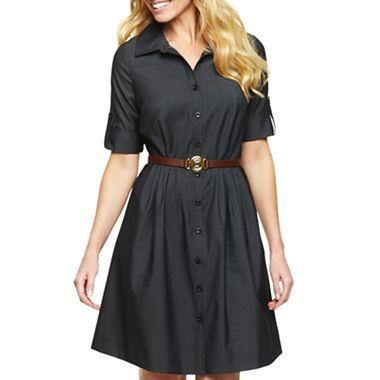 Liz Claiborne Denim Shirt Dress - jcpenney | Clothing and Such ...