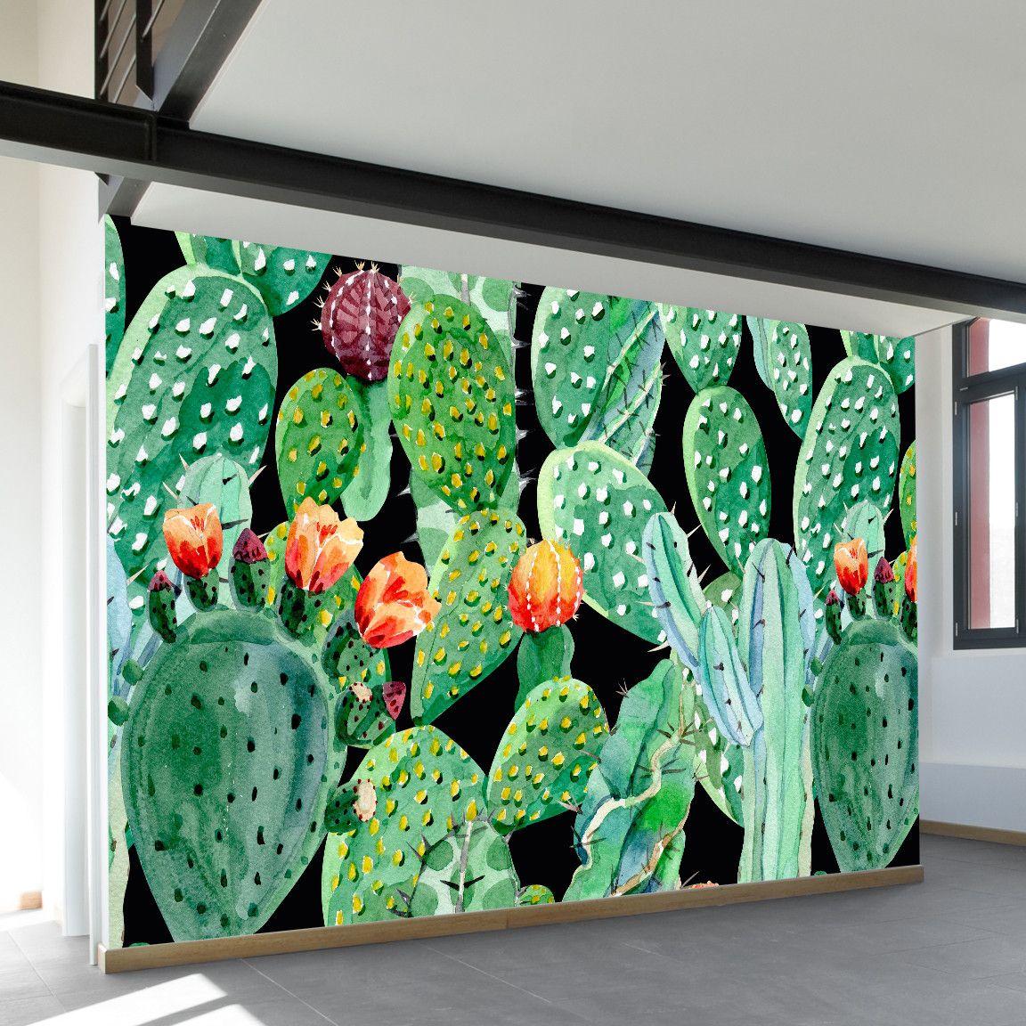 Prickly Party Wall Mural Con Imagenes Murales Pintados